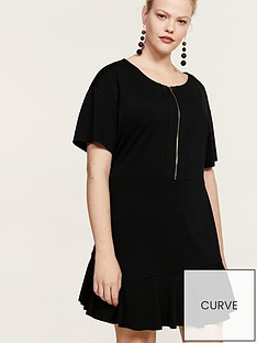violeta-plus-size-zip-front-dress-black