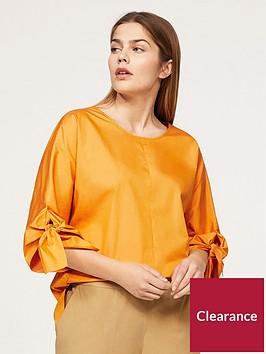 violeta-plus-size-wrap-blouse-yellow