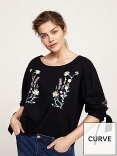 violeta-plus-size-embroidered-blouse-black