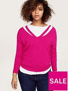 violeta-plus-size-knitted-top-fuchsia