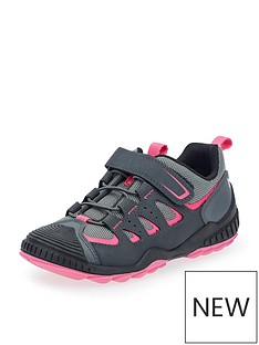 start-rite-older-girls-charge-lace-up-trainer-pinkgrey