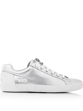 ash-nirvana-zip-detail-leather-trainers-silver