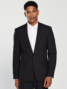 river-island-zeus-skinny-check-jacket