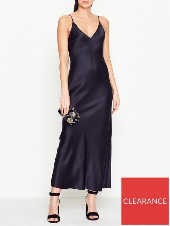 cfcc18daf41b JOSEPH Clea Silk Slip Dress - Navy | very.co.uk