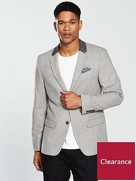 river-island-skinny-contrast-collar-blazer-grey