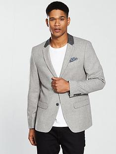 river-island-skinny-contrast-collar-blazer