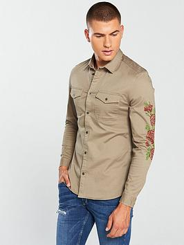 river-island-muscle-fit-military-shirt
