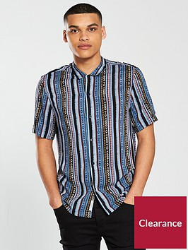 river-island-short-sleeve-aztec-print-shirt