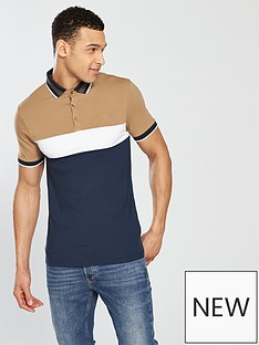 river-island-muscle-fit-colour-blocked-polo