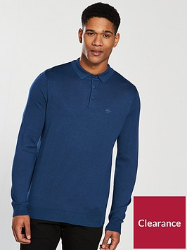 river-island-ls-ashcroft-knitted-polo