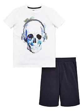 v-by-very-skull-tee-and-short-set