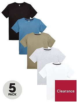 v-by-very-pack-of-5-boys-core-tees-multi