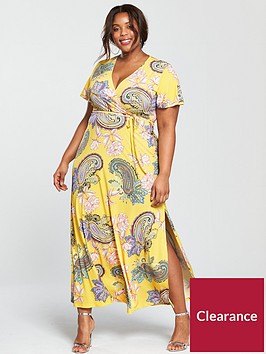 v-by-very-curve-jersey-maxi-dress-yellow-print