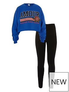river-island-girls-blue-amour-crop-sweat-and-legging-set