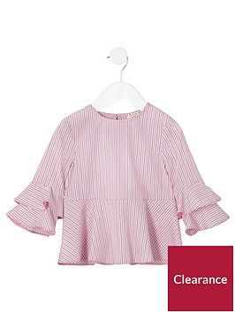 river-island-mini-girls-pink-stripe-tiered-sleeve-top