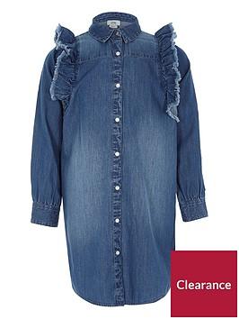 river-island-girls-blue-denim-frill-shirt-dress