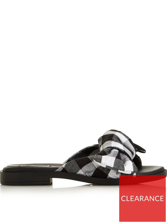 8087d79d3cda MIISTA Valerie Bow Sandals - Black white