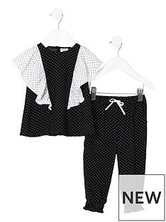 river-island-mini-girls-black-polka-dot-frill-top-outfit