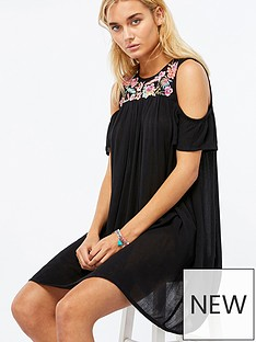 accessorize-nomad-embroidered-cold-shoulder-beach-dress