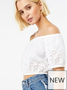 accessorize-bardot-bubble-top-ndash-white
