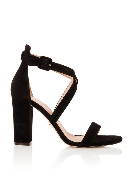e7a11a5ffd8 Dover Cross Over Block Heeled Sandals - Black