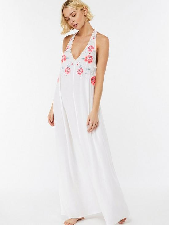c7e0979da674a Accessorize Beachcomber Wow Maxi Dress - White | very.co.uk