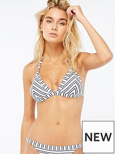 accessorize-textured-stripe-triangle-bikini-topnbsp