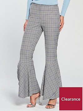 v-by-very-flared-hem-check-trouser