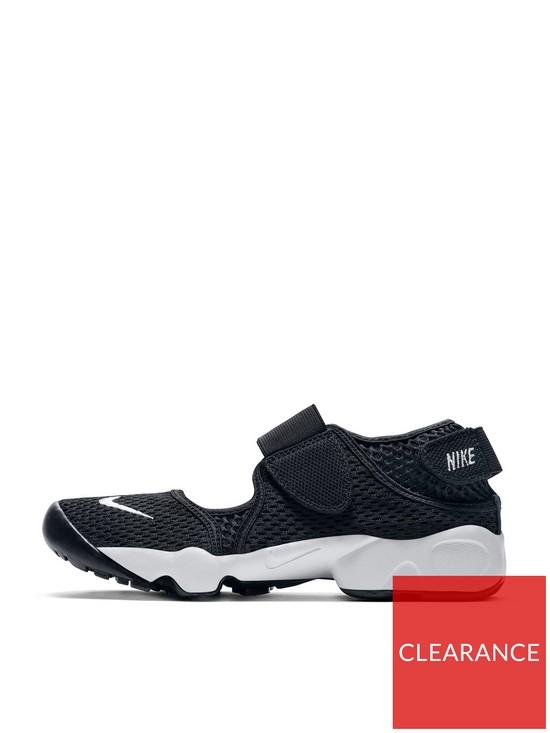 promo code 5e3c1 45929 Nike Rift Childrens Sandal - Black White