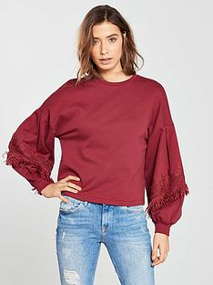 v-by-very-fringe-trim-sweat-top