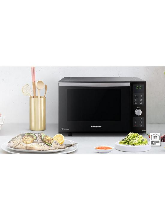 23-Litre Freestanding Microwave, Oven & Grill with Inverter Technology  NN-DF386BBPQ