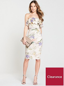 v-by-very-ruffle-bandeau-scuba-bodycon-dress-ivory-print
