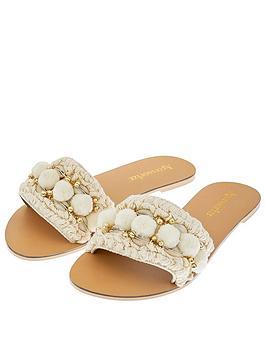 Accessorize Accessorize Penelope Pom Pom Slider Sandal