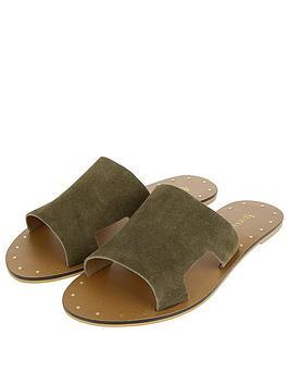 accessorize-ellen-suede-slider-sandals-green