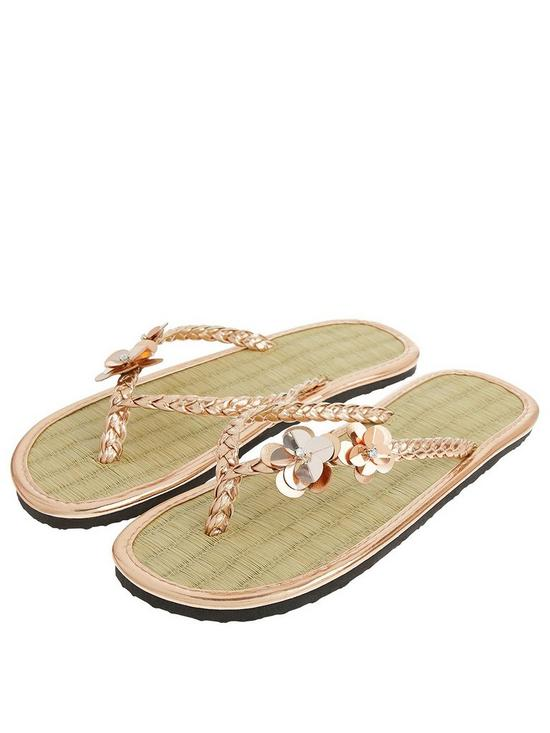 e9ee0cf81 Accessorize Charmy Seagrass Flip Flops - Rose Gold