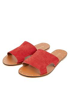 accessorize-ellen-suede-slider-sandals-red