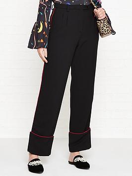 stine-goya-ivy-straight-leg-trousers-black