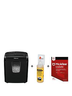 fellowes-powershred-m-3c-shredder-cross-cut-230v-uk-with-shredder-oil-and-mcafee-livesave-2018
