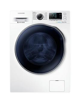 Samsung Wd90J6A10Aw/Eu 9Kg Wash/6Kg Dry, 1400 Spin Washer Dryer With Ecobubble&Trade; Technology And 5 Year Samsung Parts And Labour Warranty - White