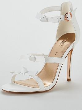michelle-keegan-leather-bow-trim-minimal-sandal-white