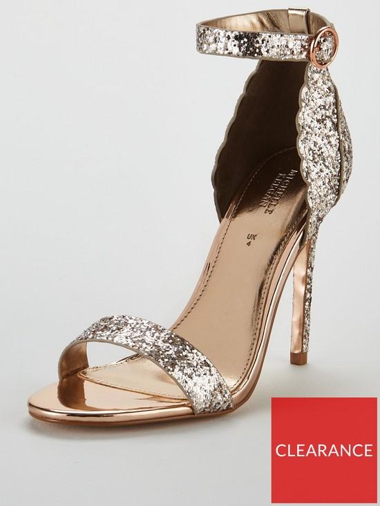 bb4626b85115 Michelle Keegan Glitter Scallop Sandal - Rose Gold