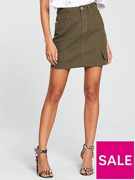 v-by-very-utility-pocket-mini-skirt-khakinbsp