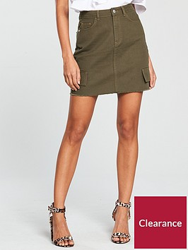 v-by-very-utility-pocket-mini-skirt-khakinbsp