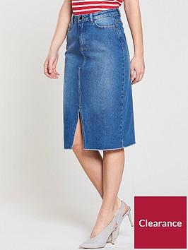 v-by-very-denim-split-frontnbspmidi-skirt-mid-wash