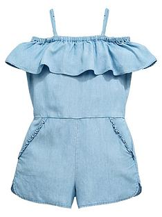 v-by-very-girls-cold-shoulder-ruffle-playsuit