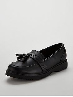 68189355c45 V by Very Girls Megan Tassel Loafer School Shoes - Black