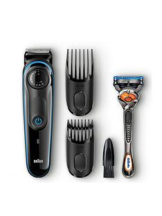Braun Beard Trimmer BT3040 and Gillette Fusion ProGlide manual razor Best Price, Cheapest Prices