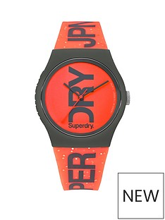 superdry-superdy-urban-brand-glitter-coral-dial-coral-strap-ladies-watch