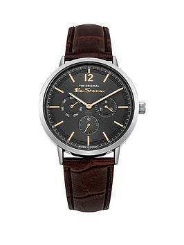 ben-sherman-ben-sherman-charcoal-multi-dial-brown-pu-strap-gents-watch