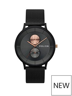 police-police-berkley-gun-multi-dial-black-stainless-steel-mesh-strap-gents-watch